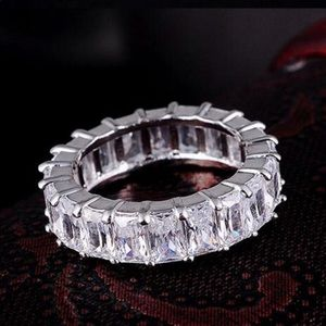 Jewelry - Sterling Silver Pave Setting CZ Eternity Band